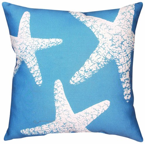 Manual Climaweave Indoor/Outdoor Square Decorative Throw Pillow, 18-Inch, Nautical Nonsense Starfish front-930376