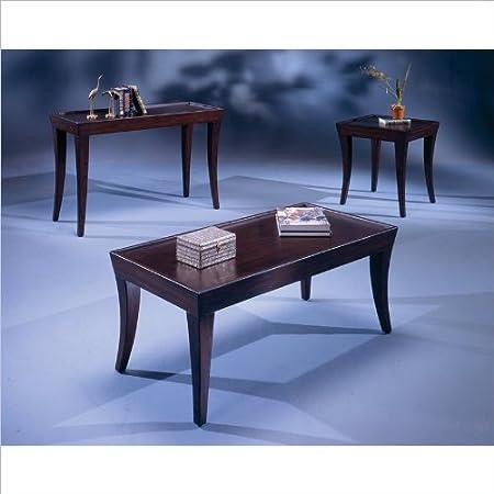 Bernards Versaille 4 Piece Coffee Table Set in Merlot