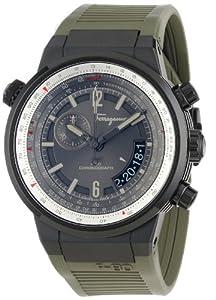 Salvatore Ferragamo Men's FQ2010013 F-80 Black Ion-Plated Stainless Steel Watch from Salvatore Ferragamo