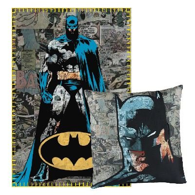Set Plaid con cuscino Batman