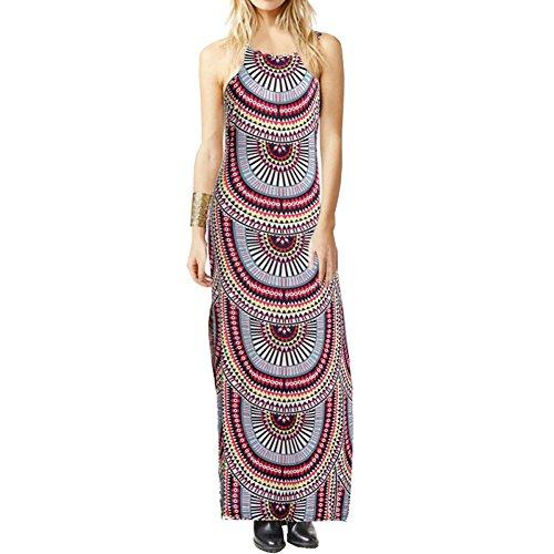 ou-grid-vestito-linea-ad-a-senza-maniche-donna-multicolore-xx-large