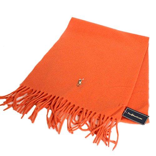 (ポロラルフローレン) POLO RALPH LAUREN ポニー ウール スカーフ マフラー レディース メンズ ユニセックス 6F0200 809 SPICE ORANGE オレンジ