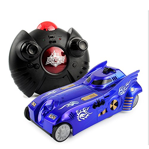 Play Vehicles,Mini Remote Control Wall Climbing RC Car 90 Degree Wall Climber Rechargeable Stunt Car Toys with Lights for Kids
