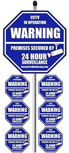 GE 1.8-in x 3-in Home Security Sign