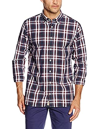 TOMMY HILFIGER Camisa Hombre Atlantic Chk Nfc2 (Azul / Rojo / Blanco)