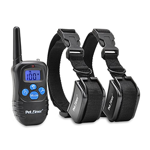 Petrainer PET998DRB2 Dog Training Collar Rechargeable and Rainproof 330yd Remote Dog Shock Collar with Beep, Vibra and Shock Electronic Collar (Dog Training Collars For 2 Dogs compare prices)