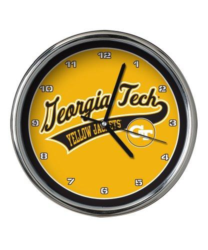 Georgia Tech Chrome Clock