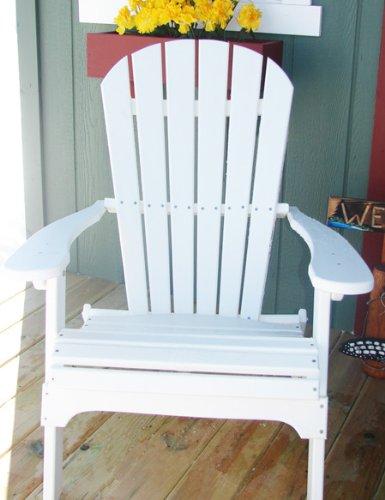 Forever Phat Tommy Maintenance Free Folding Adirondack Chair   White