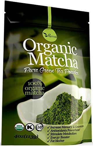 Organic Matcha Green Tea Powder USDA Organic Energy Booster Incredible Taste(4oz)