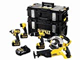 Advanced DeWalt DCK591L3 XR 5 Pack Combi/Imp/Rec/Circ/Light 18 Volt 3 3.0Ah Li Ion [PKECO]