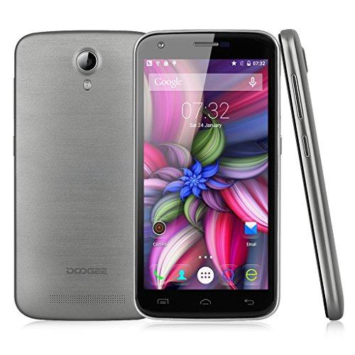 Doogee Y100 Pro – Smartphone libre Android (pantalla 5″, cámara 8 Mp, 16 GB, Quad-Core 1 GHz, 2 GB RAM), gris
