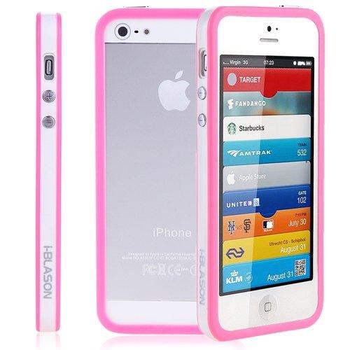 i-BLASON Premium Apple New iPhone 5 Bumper Case fits all Models AT&T Sprint Verizon GSM CDMA 4G LTE 16GB 32GB 64GB for iPhone 5 (Pink)