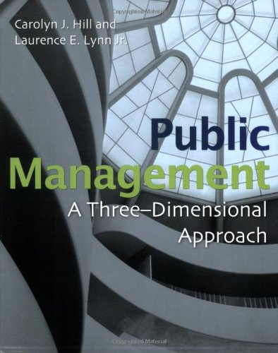 Public Management: A Three Dimensional Approach
