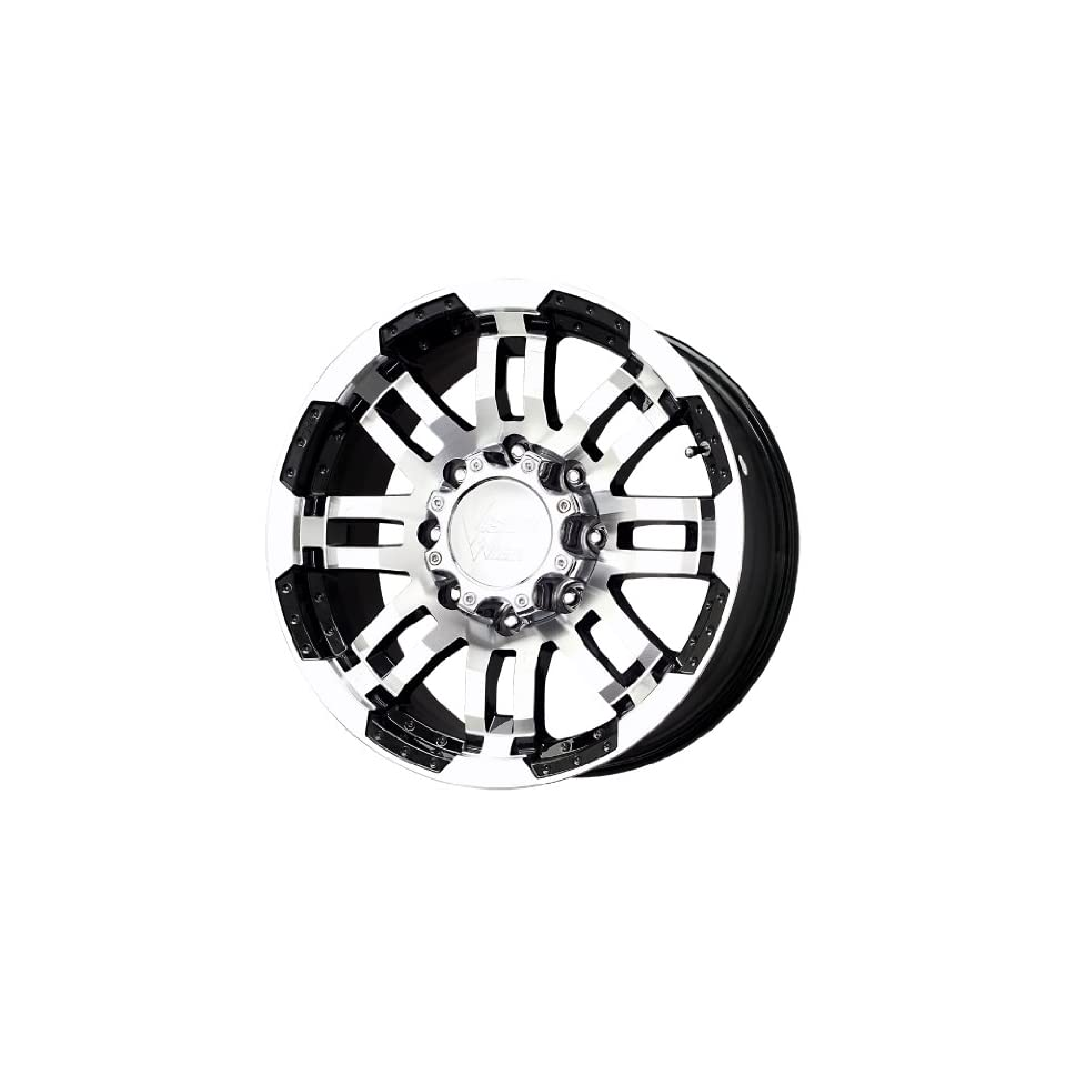 Vision Warrior 375 Gloss Black Wheel with Machined Face (18x8 1/2/8x165.1mm)