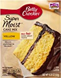 Betty Crocker Supermoist Cake Mix, Yellow, 15.25-Ounce (Pack of 6)