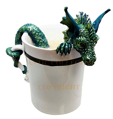 Amy Brown Sweet Addictions Good Morning Pet Dragon Coffee Sculpture Figurine (Good Morning Calendar compare prices)
