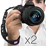 (2 Pack) Camera Hand Strap - Rapid Firex00AE; Heavy Duty Safety Wrist Strap by Altura Photo w 2 Alternate Connections for Use w Large DSLR or Point & Shoot Cameras (2016 Update)