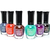 KLEANCOLOR 6 CHUNKY HOLO COLLECTION TEAL PURPLE BLACK NAIL POLISH LACQUER KMIX03 + FREE EARRING by Kleancolor