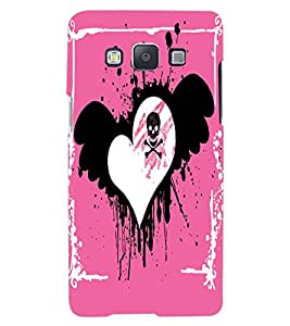 ColourCraft Love Heart Design Back Case Cover for SAMSUNG GALAXY A7