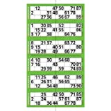Jumbo Bingo Ticket Singles, 6 to View Pad, Green