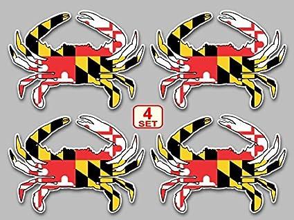 Maryland Flag Crab Decal Maryland Flag Blue Crab Decal