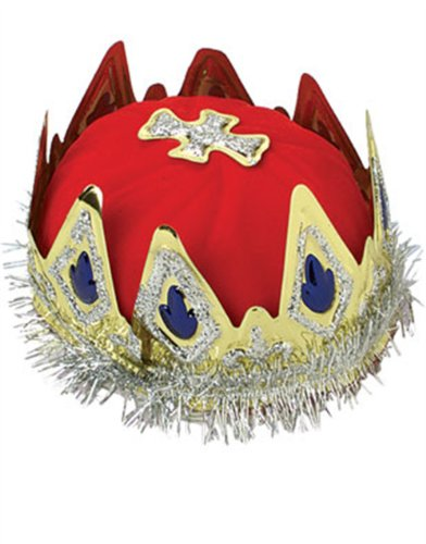 New Royal Regal Renaissance Queen Glitter Tinsel Crown