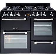 Leisure CK110F232K 110cm Dual Fuel Double Oven 7 Burners Range Cooker in Black
