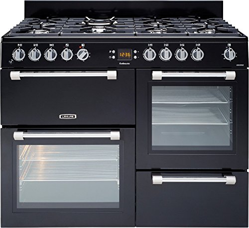 Leisure CK110F232K 110cm Dual Fuel Double Oven 7 Burners Range Cooker in Black