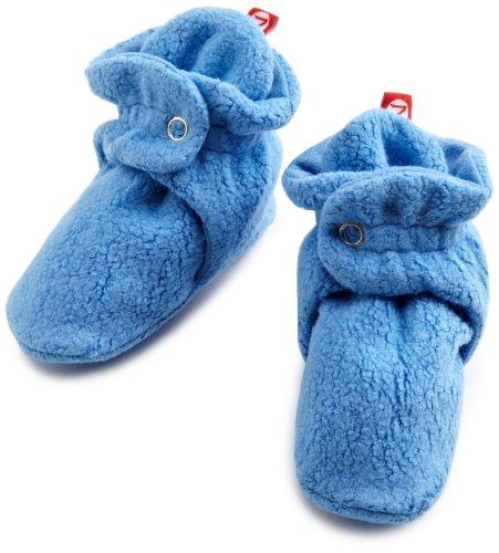 Zutano Unisex-Baby Cozie Fleece Bootie, Periwinkle, 12 Months ( 6-12 months)