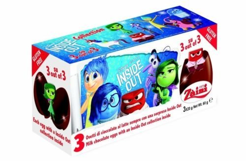 Disney INSIDE OUT Zaini Milk Chocolate with Surprise Collection 3 Eggs