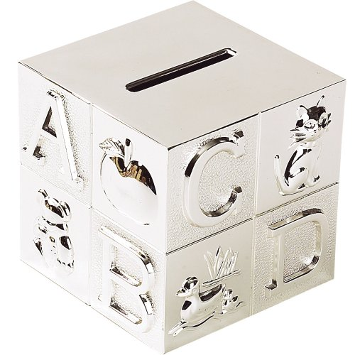 Silver Plated ABC Block Bank