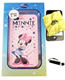 BUKIT CELL Disney ® Minnie Mouse Flexible TPU SKIN Protector Case Cover (Pink Minnie with Bubbles) for Apple iPhone 4S / 4G / 4 (Fits any carrier AT&T, VERIZON AND SPRINT) + Free WirelessGeeks247 Metallic Detachable Touch Screen STYLUS PEN with Anti Dust Plug
