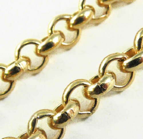 BELCHER CHAIN Necklace, GOLD DOUBLÉ 10/000, 5,6mm, LENGTH CHOOSEABLE, DIRECTLY FROM THE ITALIAN FACTORY