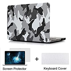 Neway 3 in 1 bundle Matte Surface Crystal Rubberized Hard Shell Case cover protector for Apple Macbook Pro 13-inch 13