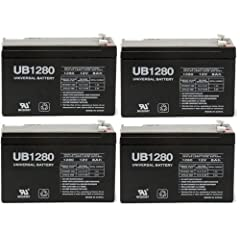 12V 8Ah Sealed Emergency Light Battery for General 01280 (CF12V8) (WKA12-8F) - 4 Pack by UPG