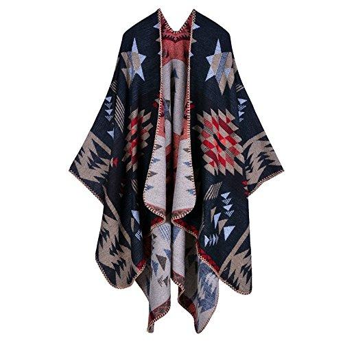 Peacoco - Poncho -  donna Black Star Taglia unica