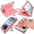 iGadgitz Pink 'Guardian Tri-view' PU Leather Case Cover for New Apple iPad Mini Wi-Fi 16GB 32GB 64GB. With Sleep/Wake Function & Integrated Hand Strap.