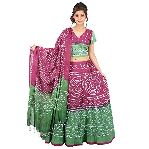 Kiran-Udyog-Beauteous-Multicolorcolor-Cotton-Handmade-Bhandej-Sequin-Work-Lehenga-Choli-716