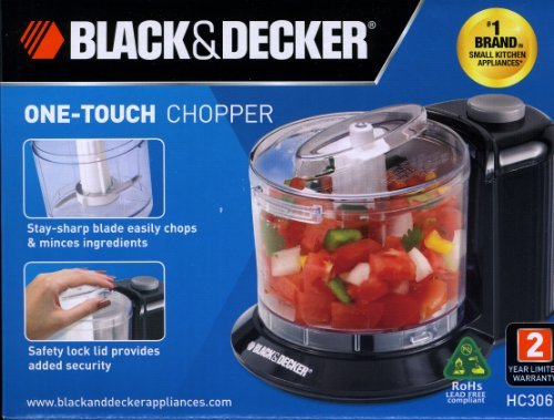 Black & Decker HC306B 1-1/2-Cup One-Touch Electric Chopper (Black Decker Chopper compare prices)