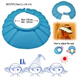 BESTEK drain stopper hat shampoo cap bath hat shower cap baby shower accessories baby hair shampoo and body wash cap sun hat (with ultra-adjustable hook loop fastener to find the just-perfect fit)BTSC201