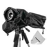 Altura Photo® Professional Rain Cover for Large DSLR Cameras (Canon Nikon Sony Pentax Olympus Fuji) - Including CANON REBEL EOS T5i T4i T3i T3 T2i T1i SL1 XT XTi 70D 60D 7D 6D 5D Mark III, NIKON D7100 D7000 D5300 D5200 D5100 D5000 D3300 D3200 D3100 D3000 D90 D80 + MagicFiber Microfiber Lens Cleaning Cloth