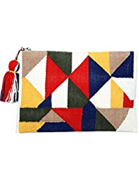 Diwaah Beautifully Handcrafted Casual Cotton Multi Color Rug Zip Top With Zip (DWH000000787)