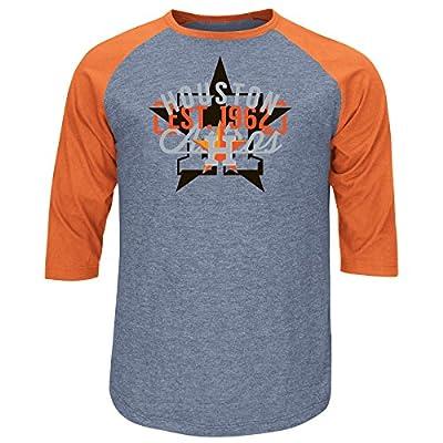 MLB Houston Astros Men's Victory is Near, Medium, Athletic Navy Heather/Dark Orange