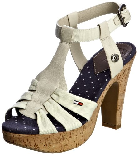 Hilfiger Denim Women's Hope 2 A Starfish T Straps Heels EN56813618 6 UK
