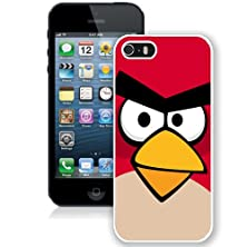 buy Iphone 5S Case,Brand New Angry Birds Logo White Case Cover
