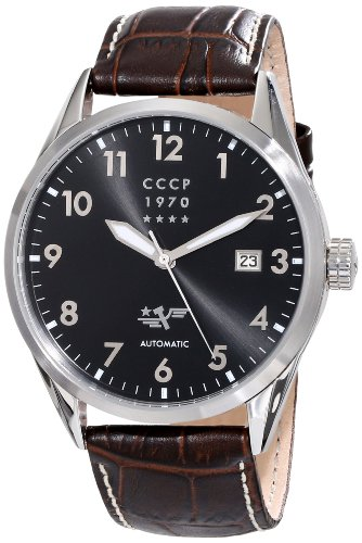 Cccp Men'S Cp-7015-04 Golden Soviet Submarine Analog Display Automatic Self Wind Brown Watch