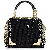 Best Seller! 2013 Casual Women's Handbag Leopard Print Paillette Bag Shoulder Bag Handbag Messenger Bag Women's Handbag