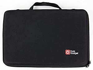 DURAGADGET Crosman Stinger P311 Airsoft Pistol Storage Case - Tough Black Armoured EVA 'Shell' Gun Case with Fully-Customizable & Shock-Absorbing D.I.Y Foam Interior for Crosman Stinger P311 Airsoft Pistol & Accessories - Please note: Any images of guns s