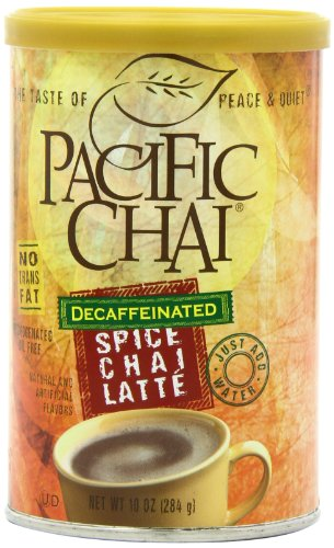 Pacific Chai Decaffeinated, Spice Chai Latte Mix, 10-Ounce Canisters (Pack Of 6)
