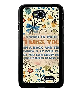 PrintDhaba Quote D-3684 Back Case Cover for LG L70 (Multi-Coloured)